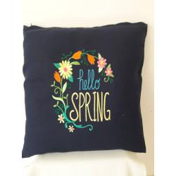 Cuscino ricamato hello spring